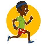 Running man. Vector illustration. sport lifestyle Vector Illustration