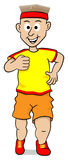 Running man. Vector illustration of a running man on white background Stock Image