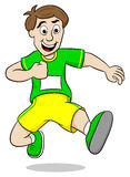 Running man. Vector illustration of a running man on white background Royalty Free Stock Image