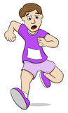 Running man. Vector illustration of a running man on white background Stock Photo