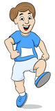 Running man. Vector illustration of a running man on white background Stock Images