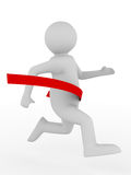 Running man on white background. Isolated 3D Royalty Free Stock Image