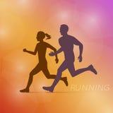 Running Man And Woman Royalty Free Stock Photos