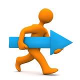 Running Manikin Arrow Stock Photo