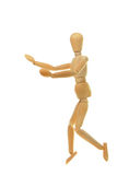 Running mannequin. Artist's mannequin in a running posture Stock Images