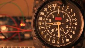 Running manometer gauge stock video