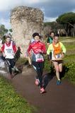 Running the Marathon of the Epiphany, Rome, Italy Royalty Free Stock Photography