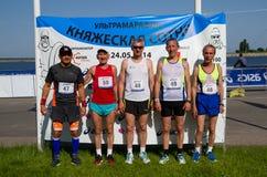 """Running  marathon  """"Knyazheskaya sotnya"""" Stock Photos"""