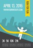 Running marathon, people run, colorful poster design Stock Photography