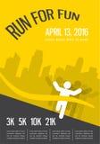 Running marathon, people run, colorful poster design Royalty Free Stock Image