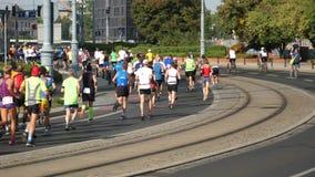 Running Marathon Runners stock footage