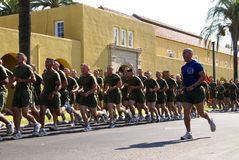 Running Marines Stock Images