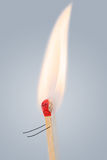 Running match with burning head. Running single match with burning head. Fire, ignition concept Royalty Free Stock Photos