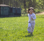 Running in the meadows Royalty Free Stock Photo