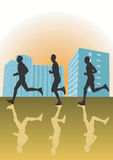 Running men Royalty Free Stock Photography