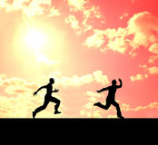Running men Stock Images