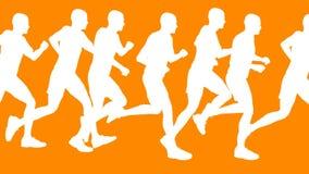 Running Men Vector Animation stock video footage