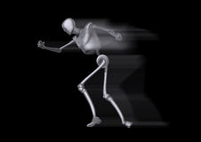 Running Metal Man. Robotic Metal man that is running very quickly Royalty Free Stock Photo
