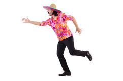 Running mexican isolated on white Stock Photography