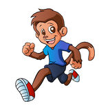 Running monkey cartoon. Royalty Free Stock Image