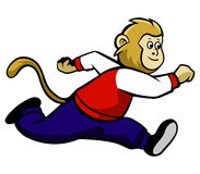Running Monkey Royalty Free Stock Photo