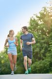 Running in the morning Royalty Free Stock Photo
