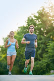 Running in the morning Royalty Free Stock Image