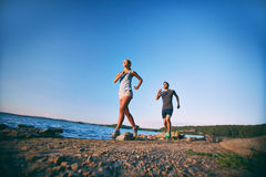 Running in the morning Royalty Free Stock Images