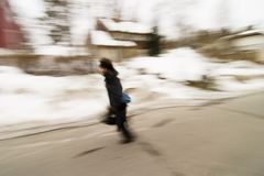Running in Motion Blur Royalty Free Stock Photos