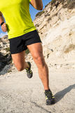 Running in the mountains. Royalty Free Stock Images