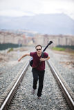 Running Musician Royalty Free Stock Images