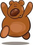 running nalle för björn royaltyfri illustrationer