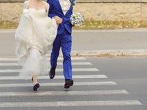 Running Newlyweds Stock Images