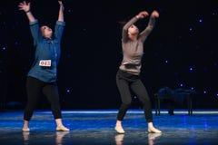 Running non-stop-Modern dance Stock Photo