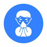 Running nose icon. Single sick icon from the big ill, disease. Royalty Free Stock Images