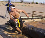 Running, Mud, and Obstacle Course Stock Image