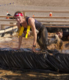Running, Mud, and Obstacle Course Stock Images