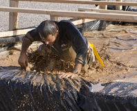 Running, Mud, and Obstacle Course Royalty Free Stock Photos