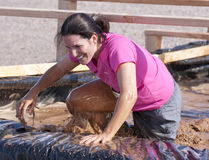 Running, Mud, and Obstacle Course Royalty Free Stock Photography