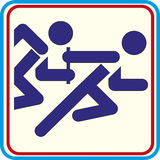 Running with obstacles. isolated icon. Running with obstacles. isolated Stock Illustration
