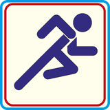 Running with obstacles. isolated vector icon. Running with obstacles vector icon Royalty Free Stock Image