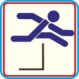 Running with obstacles. isolated vector icon. Running with obstacles. icon vector Stock Illustration