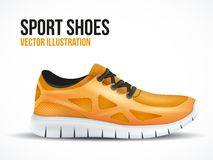 Running orange shoes. Bright Sport sneakers symbol Stock Photography