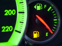 Running out of gas Royalty Free Stock Photography