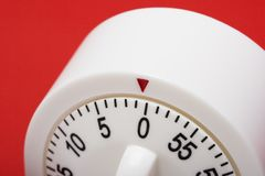 Running out of time. Close-up of egg timer running out of time Royalty Free Stock Images