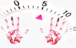Running out of time. Before being caught red handed Royalty Free Stock Photo