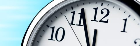 Running Out Of Time! stock photography