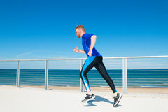 Running Outdoors Royalty Free Stock Photos