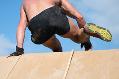 Running over obstacles Royalty Free Stock Photography