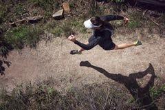 Running overhead Stock Image